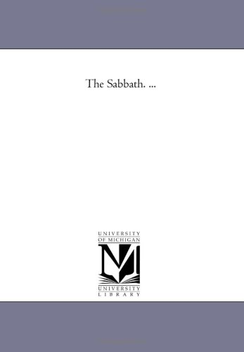 The Sabbath. .