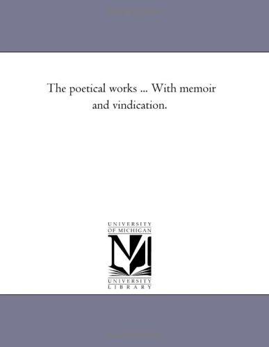 The Poetical Works . With Memoir and: Poe, Edgar Allan