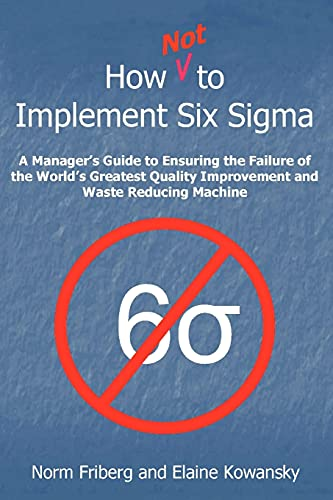 How NOT To Implement Six Sigma: A: Kowansky GELRAD, Elaine