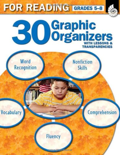 9781425803865: 30 Graphic Organizers for Reading Grades 5-8 (Graphic Organizers to Improve Literacy Skills)