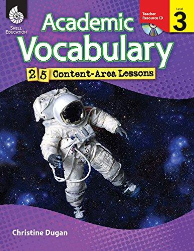 9781425807054: Academic Vocabulary: 25 Content-Area Lessons Level 3