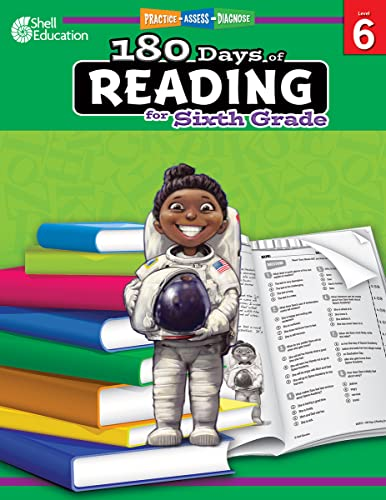 9781425809270: 180 Days of Reading: Grade 6 - Daily Reading Workbook for Classroom and Home, Reading Comprehension and Phonics Practice, School Level Activities ... Challenging Concepts (180 Days of Practice)