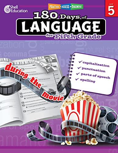 9781425811709: 180 Days of Language for Fifth Grade – Build Grammar Skills and Boost Reading Comprehension Skills with this 5th Grade Workbook (180 Days of Practice)