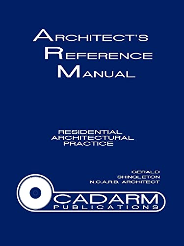 9781425903169: Architect's Reference Manual: Residential Architectural Practice