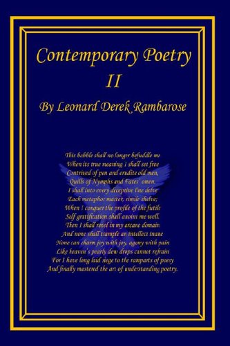 Contemporary Poetry II: Leonard Derek Rambarose
