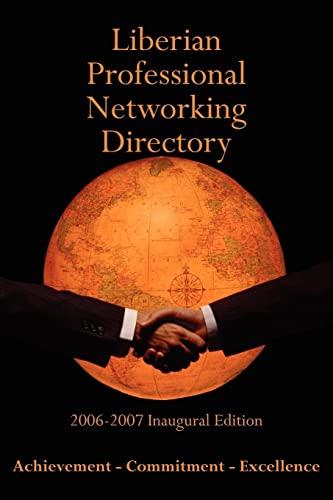 Liberian Professional Networking Directory 2006-2007 Inaugural Edition: Thomas Williams