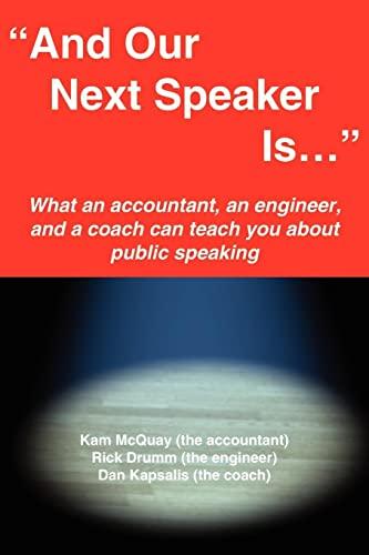 acirc;euro;oelig;and Our Next Speaker Is . acirc;euro;yen;: Kameron H. McQuay