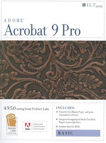 9781426004926: Acrobat 9 Pro: Basic, Ace Edition + Certblaster + Data (ILT)