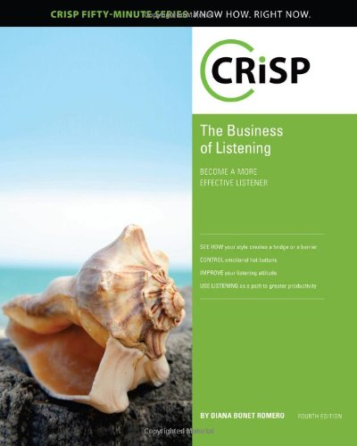9781426018480: The Business of Listening: Become a More Effective Listener (Crisp Fifty Minute Series)