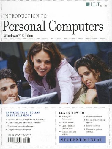 9781426019340: Introduction to Personal Computers, Windows 7 Edition + Certblaster + Data (ILT)