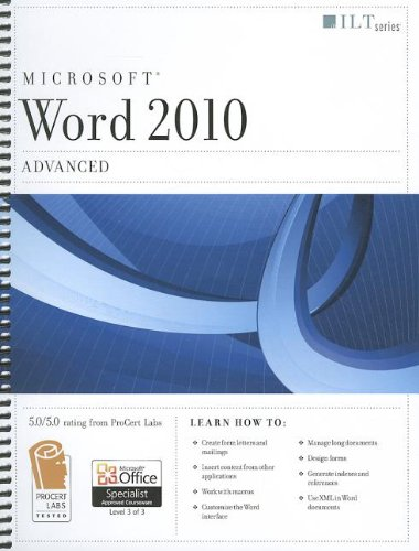 9781426021701: Word 2010: Advanced + Certblaster + Data (ILT)
