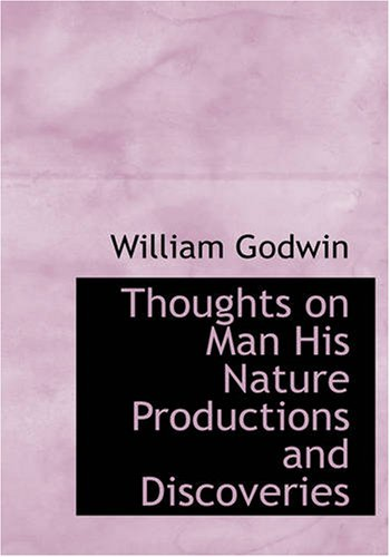9781426410727: Thoughts on Man His Nature Productions and Discoveries (Large Print Edition)