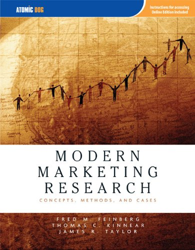9781426625602: Modern Marketing Research: Concepts, Methods, and Cases