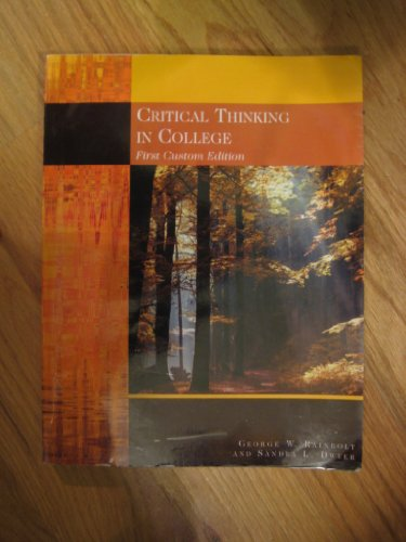 9781426627507: Critical Thinking in College Custom Edition Georgia State