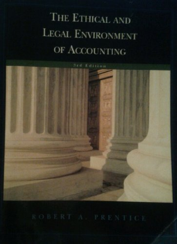 9781426630750: The Ethical and Legal Environment of Accounting, 3rd Edition