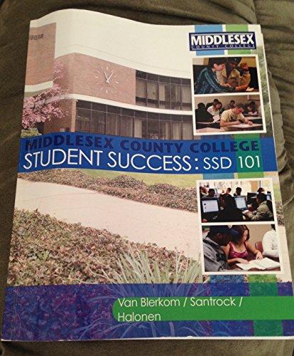 Student Success: Ssd 101 (Middlesex County College): Halonen. Van Blerkom