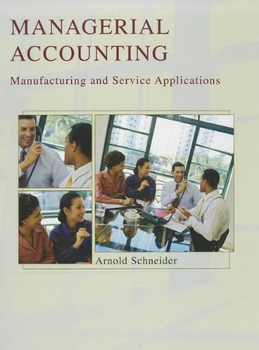 9781426644450: Managerial Accounting: Manufacturing and Service Applications