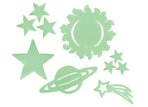 Vacation Bible School 2010 Galactic Blast Glow in the Dark Space Shapes (package of 10) VBS: A Cosmic Adventure Praising God (1426707215) by Abingdon Press