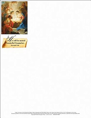 9781426772696: Wonderful Counselor/Christmas Nativity Letterhead (Pkg of 50)