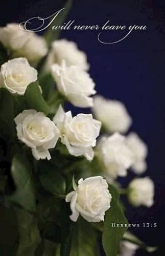 9781426773013: White Roses Funeral Bulletin (Pkg of 50)