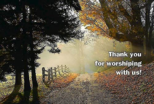Thank You for Worshiping with Us! Postcard (Pkg of 25): Abingdon Press