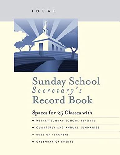 9781426774157: Ideal Sunday School Secretary's Record Book