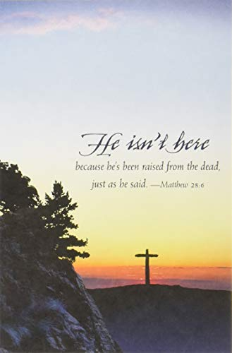 9781426777165: He Isn't Here Easter Sunrise Bulletin (Pkg of 50)