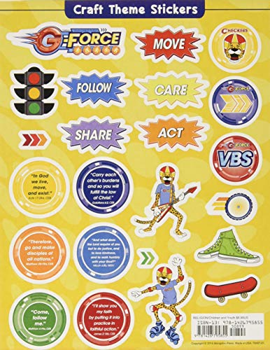 9781426795855: Vacation Bible School (VBS) 2015 G-Force Craft Theme Stickers (Pkg of 12): God's Love in Action (G-Force (Vbs))