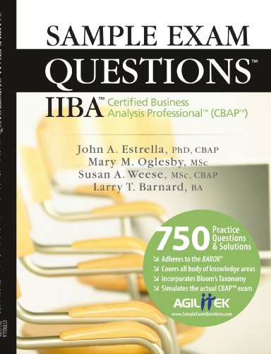 9781426903991: Sample Exam Questions: IIBA Certified Business Analysis Professional (CBAP)