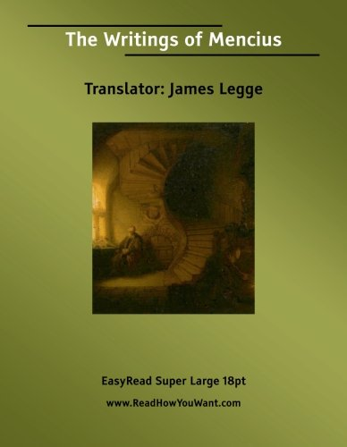 The Writings of Mencius (1427001480) by James Legge