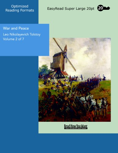 9781427010131: War and Peace Volume 2 of 7: [EasyRead Super Large 20pt Edition]