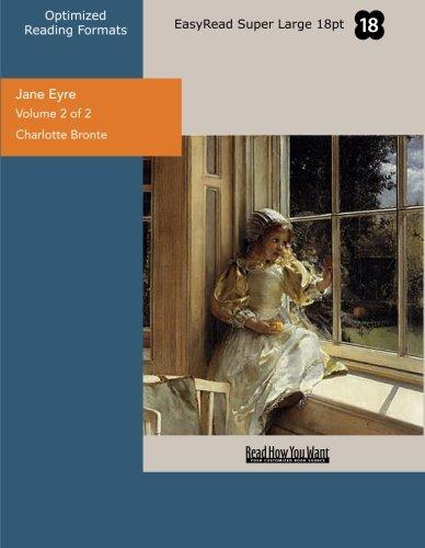 9781427021809: Jane Eyre (Volume 2 of 2) (EasyRead Super Large 18pt Edition)