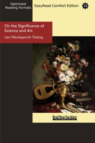 9781427025319: On the Significance of Science and Art