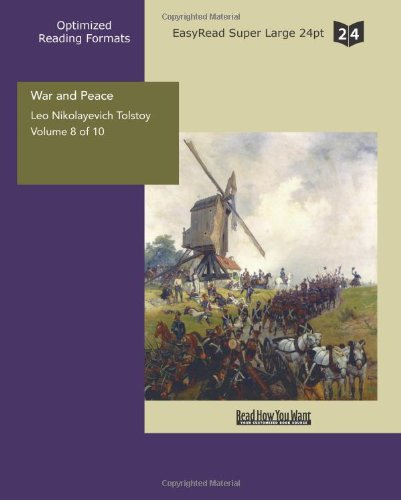 9781427030207: War and Peace: Easyread Super Large 24pt Edition: 8