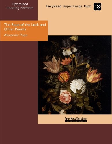9781427034090: The Rape of the Lock and Other Poems: Easyread Super Large 18pt Edition