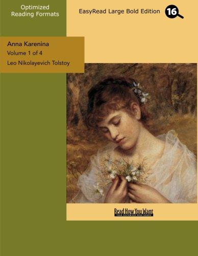 9781427046581: Anna Karenina (Volume 1 of 4) (EasyRead Large Bold Edition)