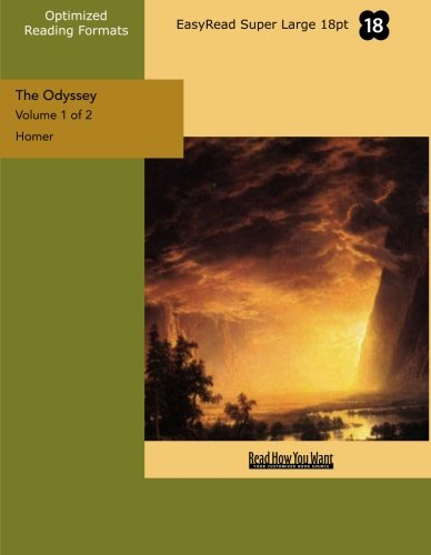 9781427048042: The Odyssey (Volume 1 of 2) (EasyRead Super Large 18pt Edition)