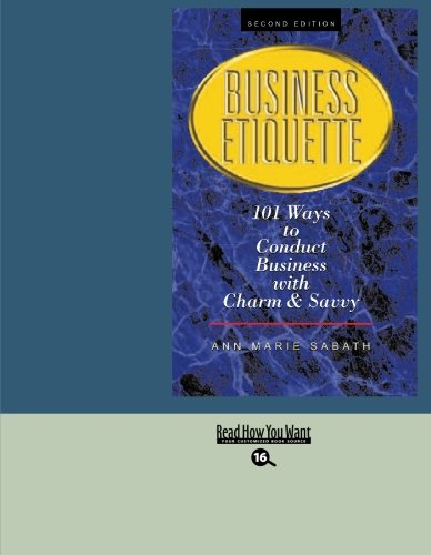 9781427094292: BUSINESS ETIQUETTE (EasyRead Large Bold Edition)