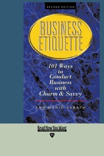 9781427094308: BUSINESS ETIQUETTE