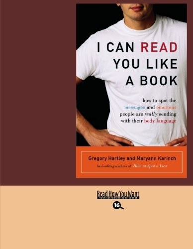 9781427095473: I CAN READ YOU LIKE A BOOK (EasyRead Large Bold Edition)