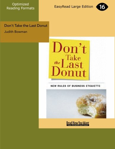 9781427096937: Don't Take the Last Donut