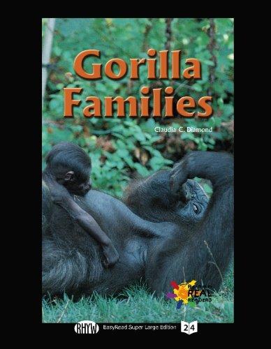 9781427099907: Gorilla Families (EasyRead Super Large 24pt Edition)