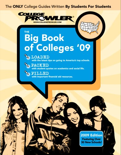 9781427400055: The Big Book of Colleges 2009 (College Prowler Guide)