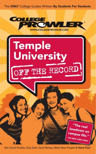 9781427401441: Temple University: Off the Record - College Prowler (College Prowler: Temple University Off the Record)