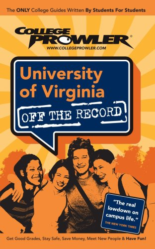 9781427402035: University of Virginia: Off the Record - College Prowler (Off the Record) (College Prowler: University of Virginia Off the Record)
