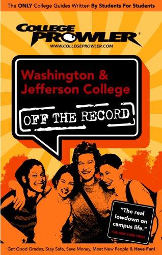 9781427402813: Washington & Jefferson College: Off the Record (College Prowler) (College Prowler: Washington & Jefferson College Off the Record)