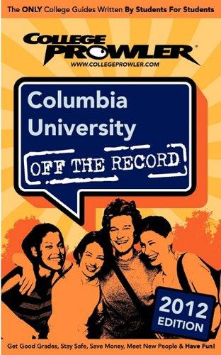 Columbia University 2012: Off the Record: Millet, Alexandre, Green, Julia, Tompkins, Michelle