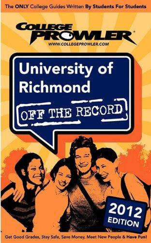 University of Richmond 2012: Off the Record: DiLibero, Laura, Hansen, Peter