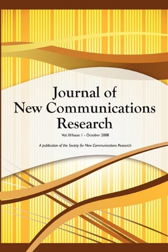 9781427636034: Journal of New Communications Research, Vol III, Issue 1