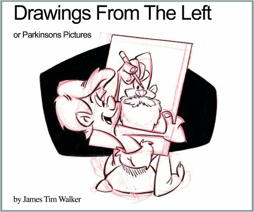 Drawing from the Left (Signed): James Tim Walker